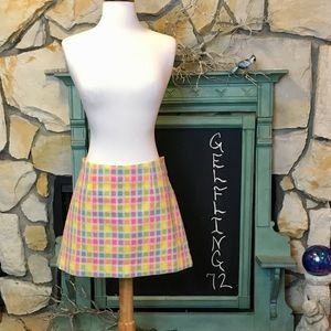 Lilly Pulitzer Pastel Squares Skirt